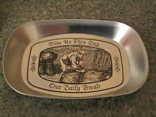 DAT'L DO IT INC - TIN BREAD TRAY - GIVE US THIS DAY OUR DAILY BREAD - SILVR COLR