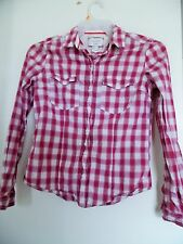 Ladies Forever 21 plaid button down shirt size S.