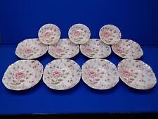 """8 - 7"""" bowls + 3 Small 5"""" Rose Chintz Johnson Brothers Made in England Set Lot"""