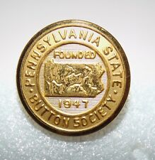 Medium Pennsylvania Button Society Brass Button #185