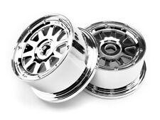 1/5 RC Baja Genuine HPI TR-10 Wheels Chrome Rear 5SC 104977