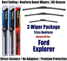 3-Pack Wipers Front & Rear NeoForm - fit 2011+ Ford Explorer - 162613/2213/11G
