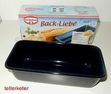 Dr. Oetker Back Liebe Backform Kastenform Emaille L 25 cm Kuchenform