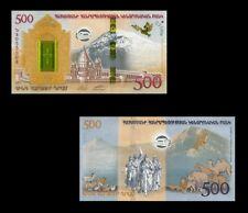 Armenia 500 Dram 2017 UNC**New Hybrid Polymer (Commemorative with folder)