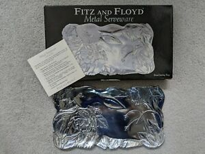 Fitz and Floyd Bread Tray Metal Serveware Serving Tray Collector Plate (#1)