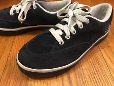 AIRWALK Athletic Lace Up Sneakers Shoes Dark Navy Blue Suede Leather Size 6