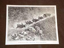 Sud America nel 1889 Carovana o diligenza al galoppo su un pendio
