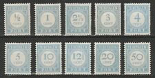 NVPH P44-60 Port Portzegel 10 waarden 1912-1920 Postfris