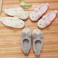 Women's Men's Indoor Home Shoes Fleece Warm Slippers Cute Sheep Soft