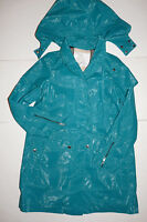 New Authentic BURBERRY Children Girls Kids Green Trench Coat Size 14 Y M blue