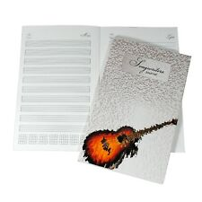 Guitar Songwriting Notebook, Staff and Lyric Paper, Chord and Scale Charts