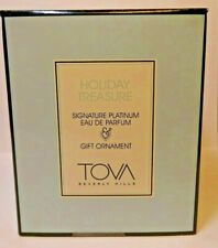 TOVA SIGNATURE PLATINUM EAU DE PARFUM HOLIDAY TREASURE +GIFT ORNAMENT BOXED