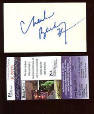Charles Barkley Philadelphia 76ers Autographed 3x5 Index Card JSA COA