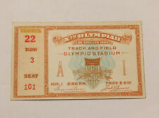 1932 Los Angeles Olympic Ticket Track and Field — Men's 100 Meter Final