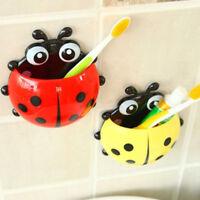 Cartoon Ladybug Wall Suction Kids Bathroom Sucker Bathroom Toothbrush Holder