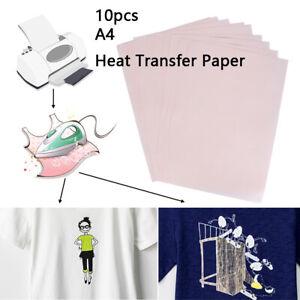 10pcs Heat Transfer Paper Iron on Transfer Paper Laser Printer T-Shirt Printing