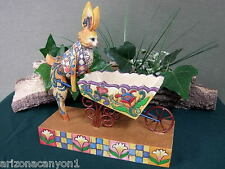 Jim Shore A Bunny's Work is Never Done Bunny/Wheelbarrow 4001849 New in Box Tag
