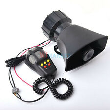 12V Trumpet Siren Horn Train Car Truck Boat Super Loud Alarm Upgraded System Mic