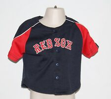 MLB Boston Red Sox Majestic Kids 18 Months Blue + Red Sewn Jersey