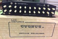 HIFONICS CYGNUS VI, OCTAVE EQUALILISER Zed Audio, Super Rare Hard To Find.