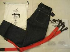 Stussy Deluxe × Maiden Noir Denim Jeans Pants Size 28 Inch Only 100 Rare