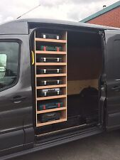 d3ccf454b6 TRANSIT 2014 DRILLBOX Storage Accessories Van Racking Sytem Plywood Shelving