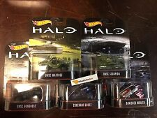 HALO Complete 5 Car Set * 2017 Hot Wheels Retro Series * HB4