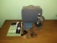 Vintage Sans & Streiffe Microscope NO. 517 W/ Prepare Slides etc.