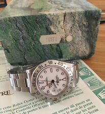 ROLEX EXPLORER II 16570 - Box & Papers - Just serviced -Swiss -T<25 Dial