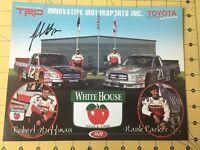 Autographed Robert Huffman #12 Photo Card NASCAR Craftsman Toyota Tundra