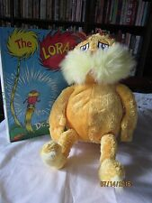 "lot of Kohl's Cares LORAX  Dr. Seuss 2005 14"" Plush and Book, Hardback"