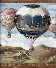 Hot Air Balloons over the Countryside WALLPAPER BORDER