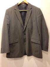 "Burton Grey Suit Jacket Pinstripe Mens 44"" - <E3642"