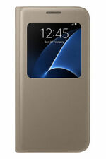 Official Samsung Galaxy S7 Gold S View Cover / Case - EF-CG930PFEGWW