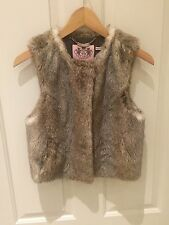 Juicy Couture Fur Waistcoat  Small
