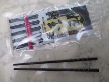 Sushi Stäbchen Japan schwarz lackiert edel 5 Paar = 10 Stück Ess Stäbchen