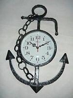 Orologio da parete in ferro battuto ANCORA NAUTICA MARE