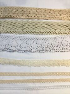 Cotton Clunny  Lace Trim 3 Meters Cream Or White Beautiful qaulity and design