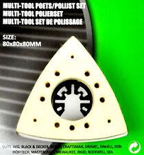 DELTAPOLIERPLATTE MULTITOOL Delta Politur Hobby Werkzeug Dreieck Wolle 80mm