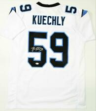 Luke Kuechly Autographed White Pro Style Jersey - Beckett W Auth *5