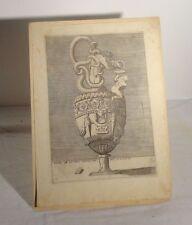 Antique Renaissance Engraving Print Enea Vico Rome Vase Ewer SPQR Old Master