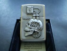 """ZIPPO/ THE RARE """" POWER ENGINE SCULL """" IN AWESOME DETAIL / STEAM PUNK DESIGN"""