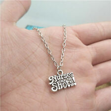 Nurses call the shots silver Necklace pendants fashion accessory,creative Gifts