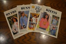 Vintage Iron-On Transfer Books T-Shirt Patterns Bunny Kitty Kids Lot of 4
