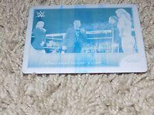16 WWE Topps Road To Wrestlemania Rusev Summer Rae Cyan Printing Plate Card 1/1