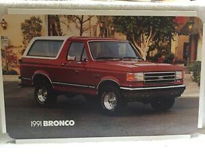 1991 FORD BRONCO, SHOWROOM DEALER POSTER