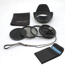RISE(UK)52MM UV CPL ND8 Filter Kit + Lens Hood for Nikon Canon Pentax DSLR Lens