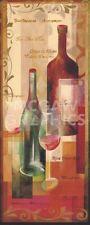 WINE ART PRINT - Here's To You! by Verbeek Van den Broek Winery Bar Poster 27x12