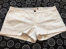 SO White Shorts Rolled Hem Super Cute Size 13 NWT Retail $32