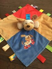 Taggies Puppy Dog Security Baby Blanket Lovey Plush Mary Meyer Red Sneakers Shoe